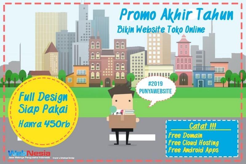 Promo Pembuatan Website Toko Online Gratis Aplikasi Android Terbaru