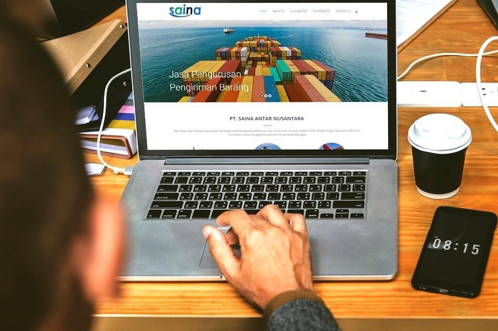 jasa pembuatan web pengiriman barang