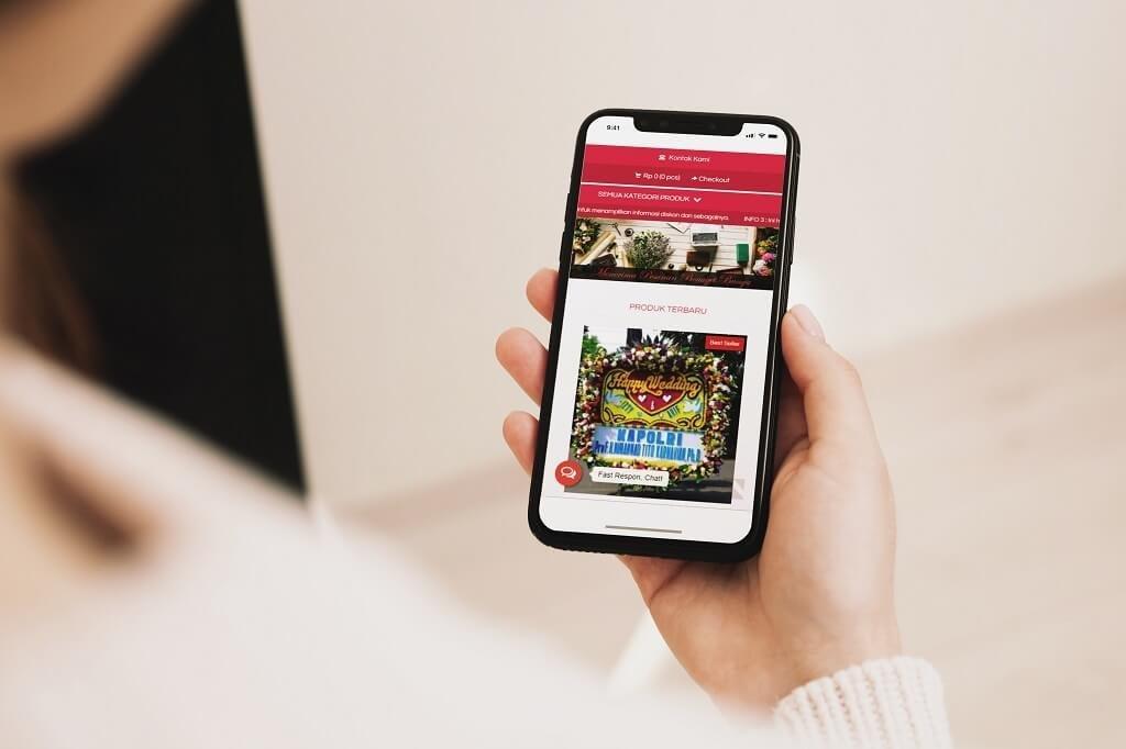 Jasa Pembuatan Website Toko Online Jual Bunga