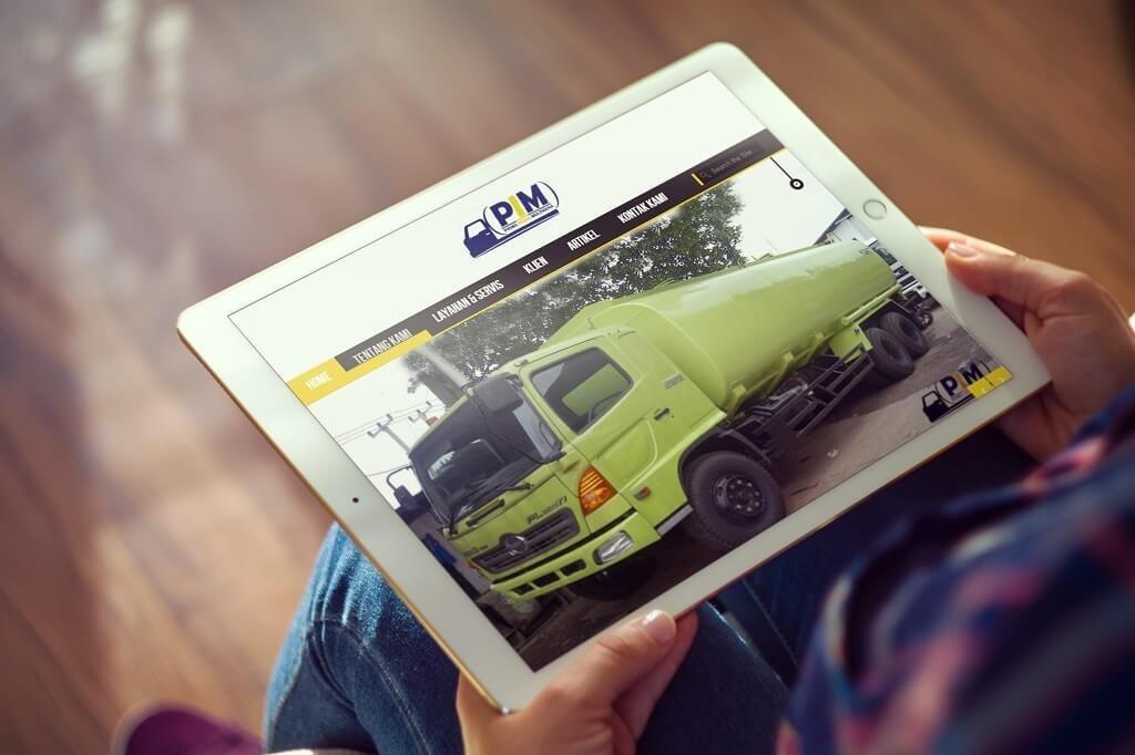 jasa pembuatan website karoseri