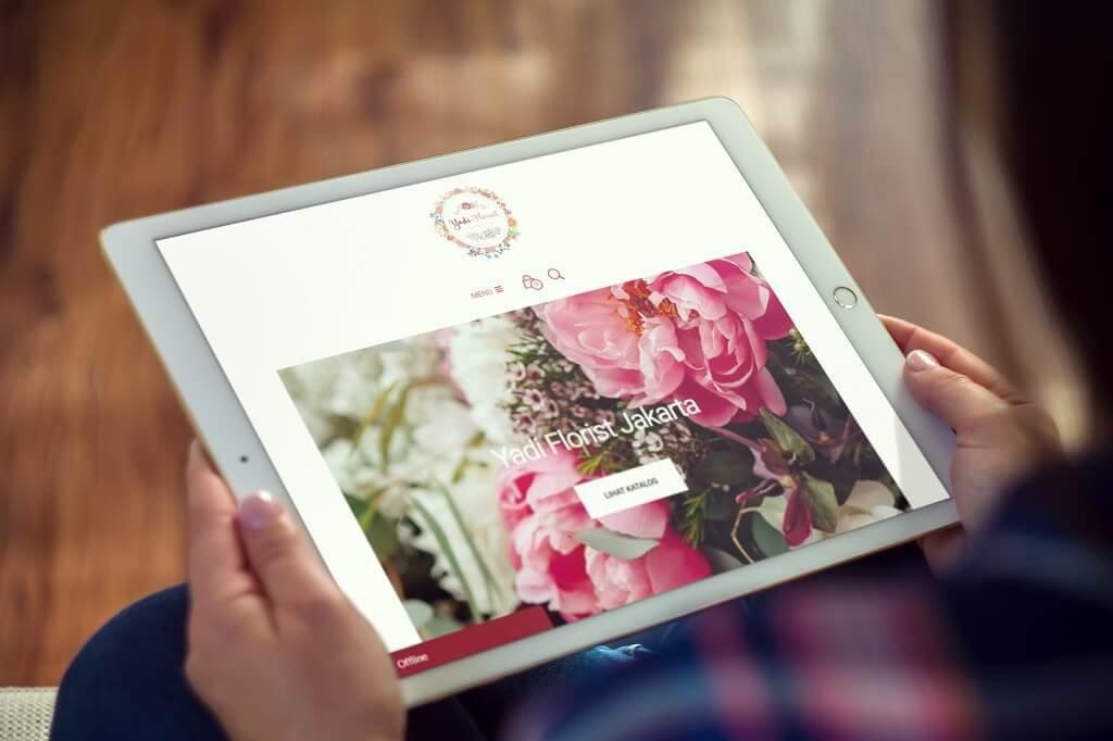 jasa pembuatan website toko bunga