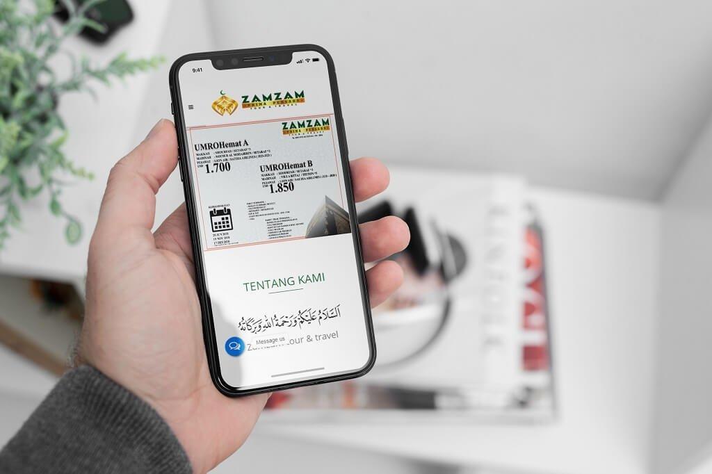 Jasa Pembuatan Website Tour Travel Haji Umroh