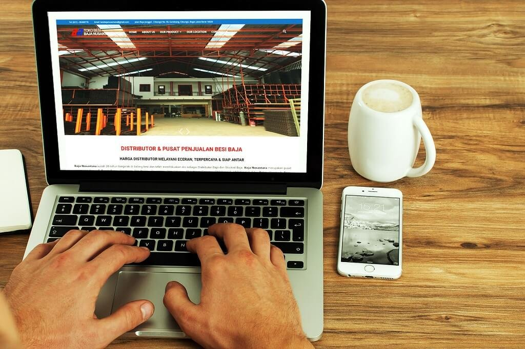 Jasa Pembuatan Website Penjualan Besi Baja