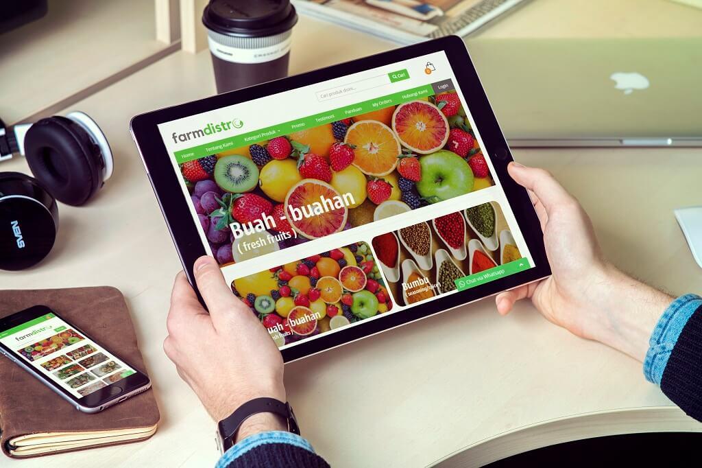 jasa pembuatan website jual sayur online