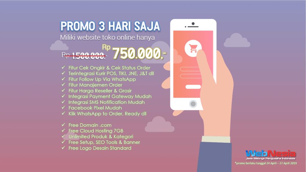 Promo Terbaru Bikin Web Toko Online