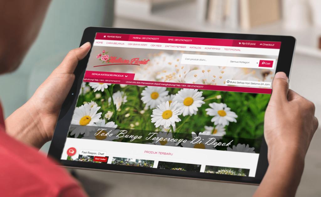 Jasa Pembuatan Website Toko Online Karangan Bunga