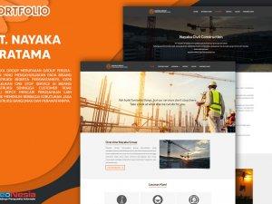 Jasa Pembuatan Website Profile Bisnis Konstruksi