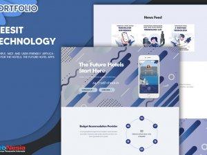 Jasa Pembuatan Website Landing Page Aplikasi Hotel
