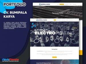 Jasa Pembuatan Website Electro Plating