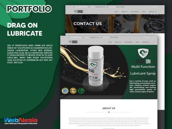 Jasa Pembuatan Website Lubricate Spray