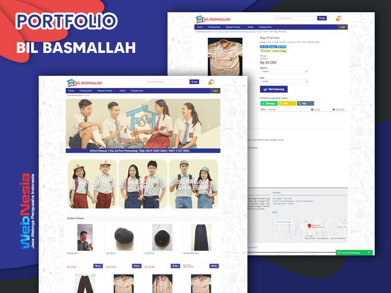 Jasa Website Toko Online Seragam Sekolah