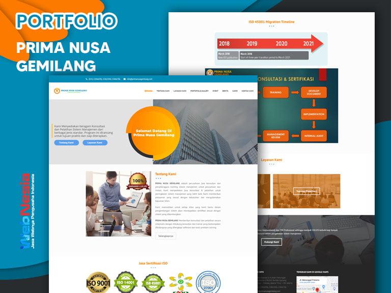 Jasa Website Company Profile Sertifikasi