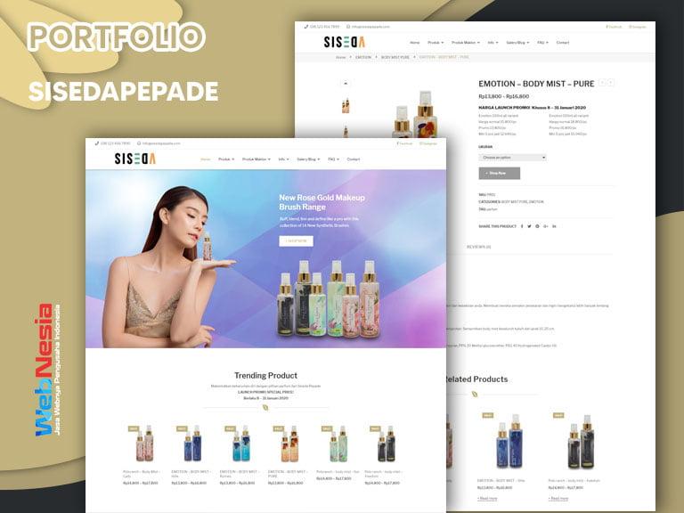 Jasa Pembuatan Website Toko Online Beauty Care