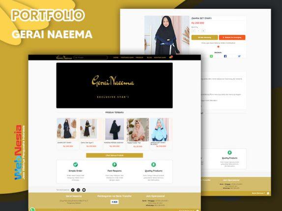 Jasa Website Toko Online Baju Gamis