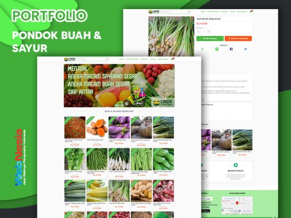 Jasa Website Toko Online Buah & Sayuran