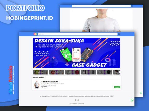 Jasa Website Toko Online Custom Printing