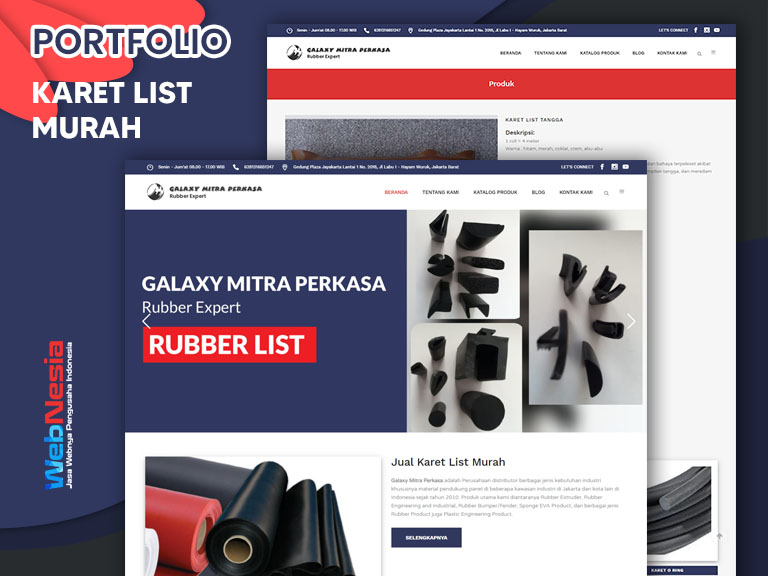 Jasa Website Karet List