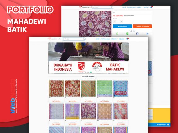 Jasa Website Toko Online Batik