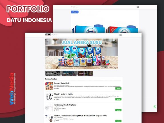 Jasa Website Toko Whatsapp
