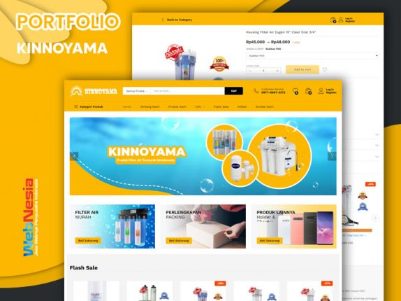 Jasa Website Toko Online Filter Air