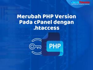 Merubah Versi PHP cPanel dengan htaccess