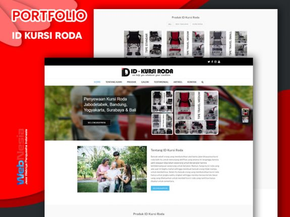 Jasa Website Sewa Kursi Roda