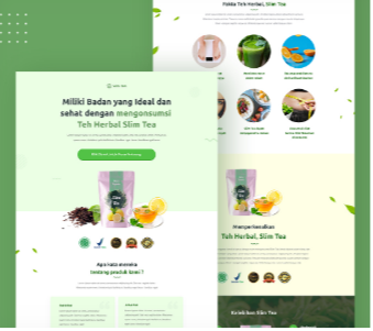 Jasa Landing Page Produk Herbal