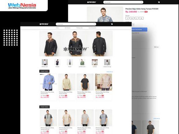 Website Toko Online Pakaian Muslim