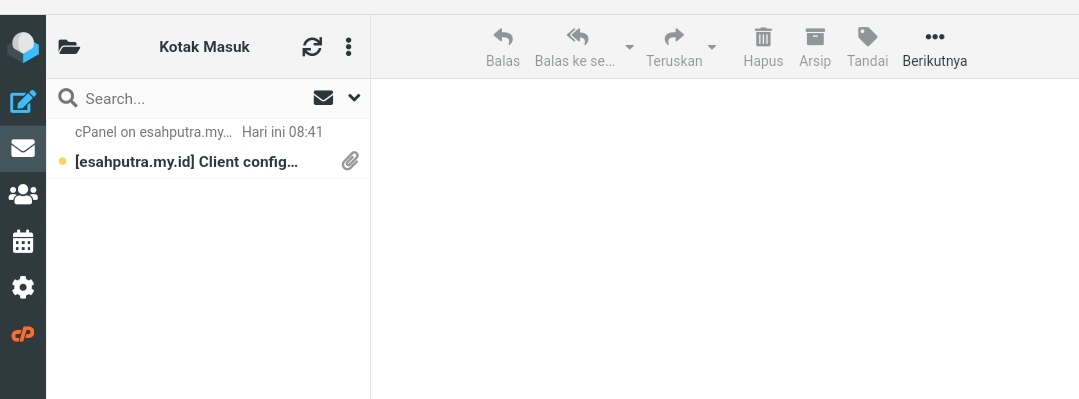cara membuat email di cPanel