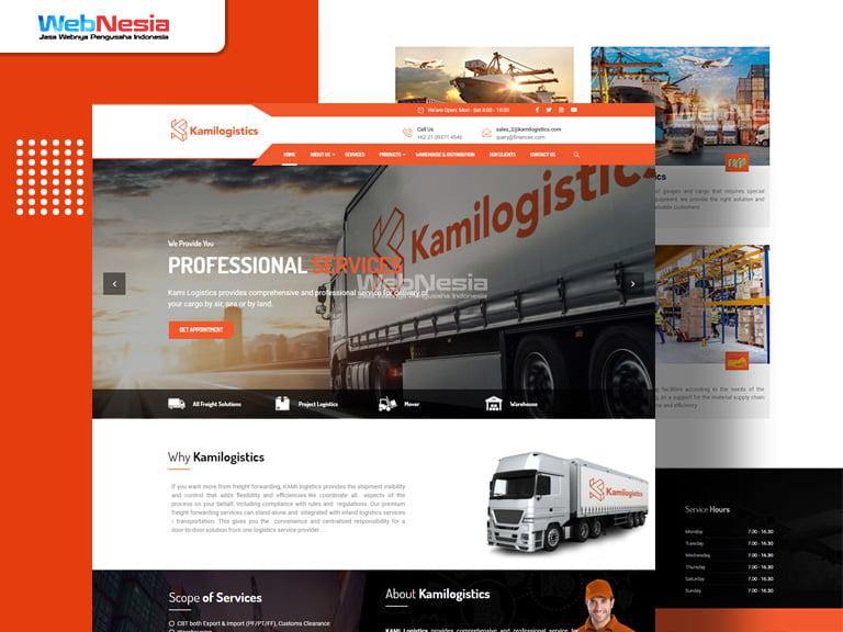 Website Perusahaan Logistik